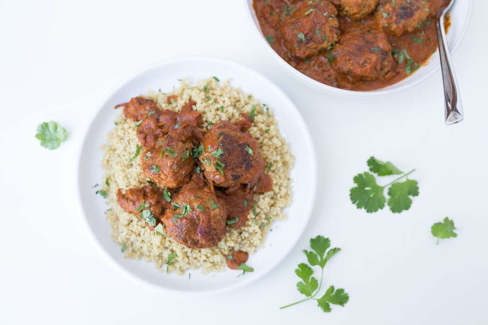 Indian Meatball Masala with Quinoa