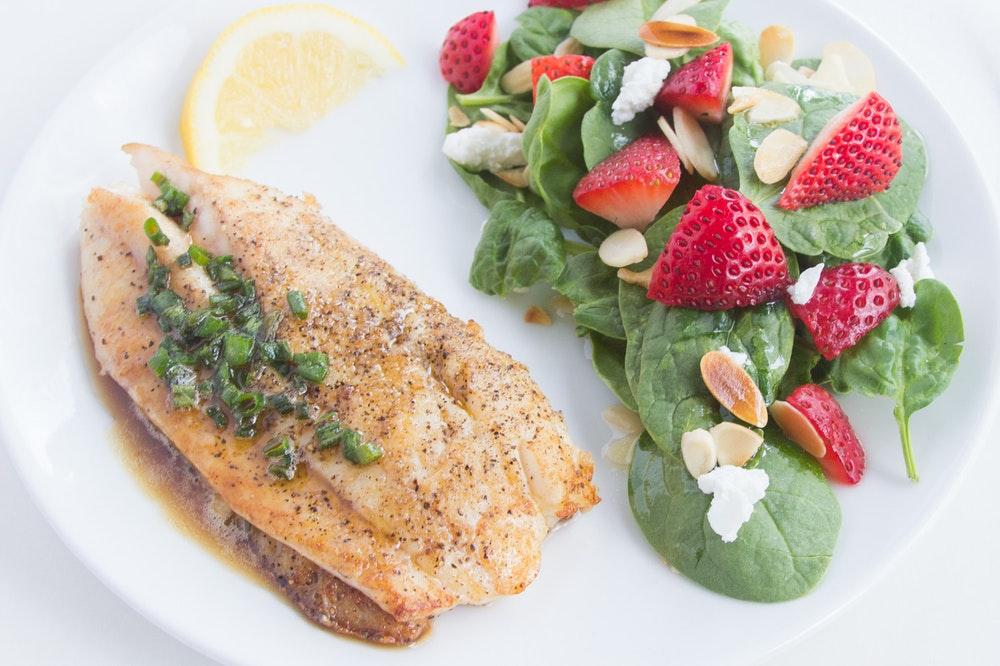 Tilapia with Lemon-Chive Butter