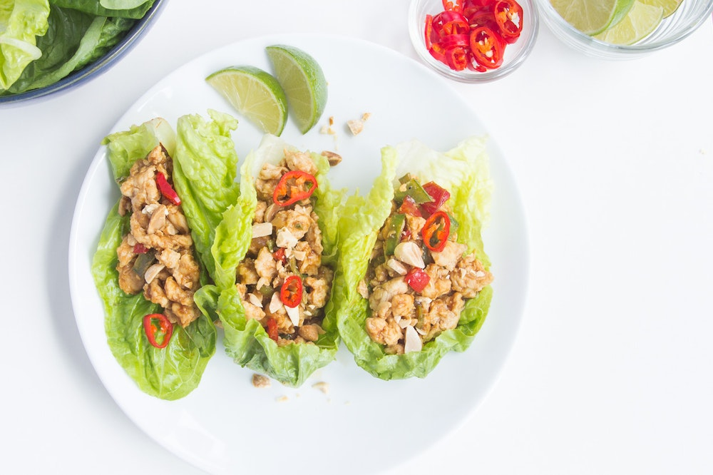 Chicken Stir-Fry Lettuce Wraps