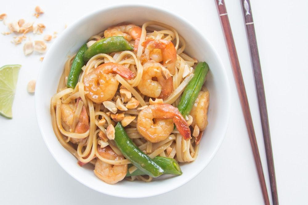 Hoisin Noodles with Shrimp