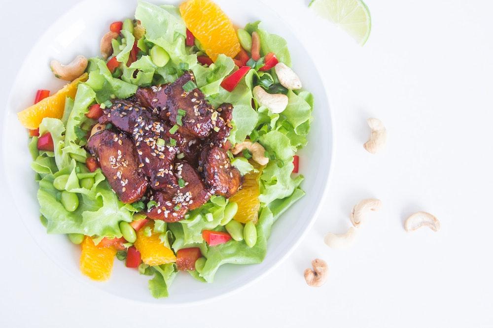 Honey-Sesame Seared Tofu Salad
