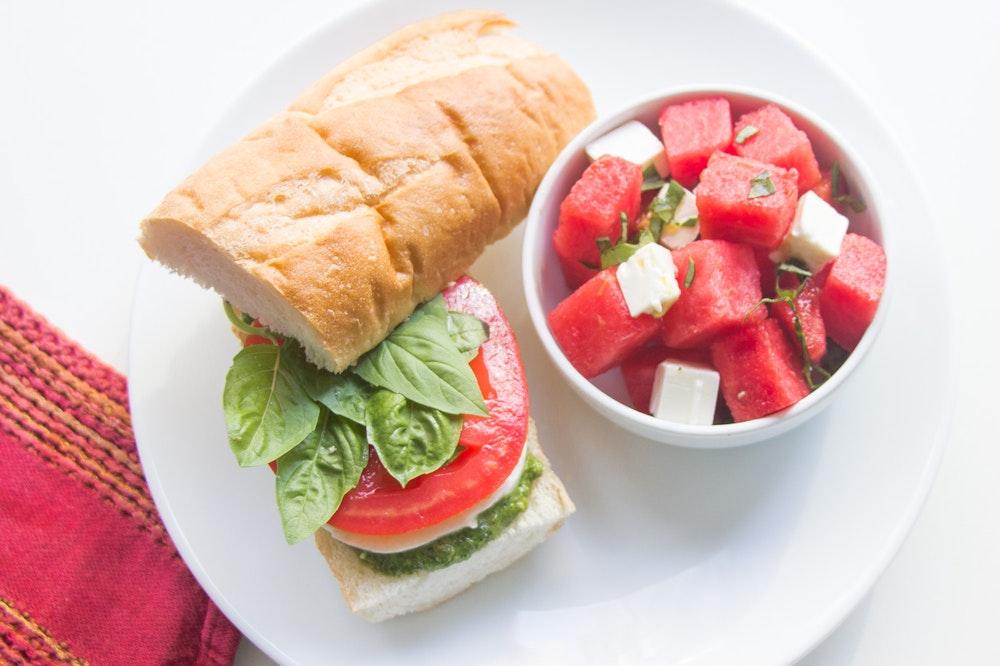 Caprese Sandwiches with Kale Pesto