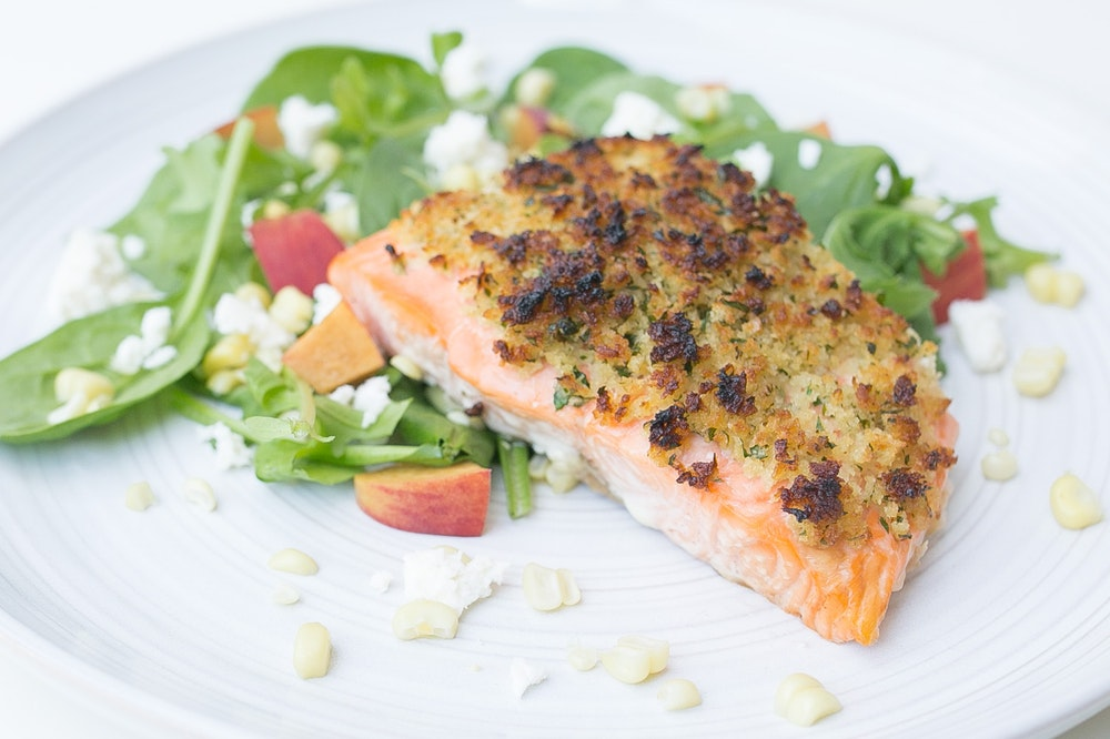 Crunchy Maple-Dijon Salmon