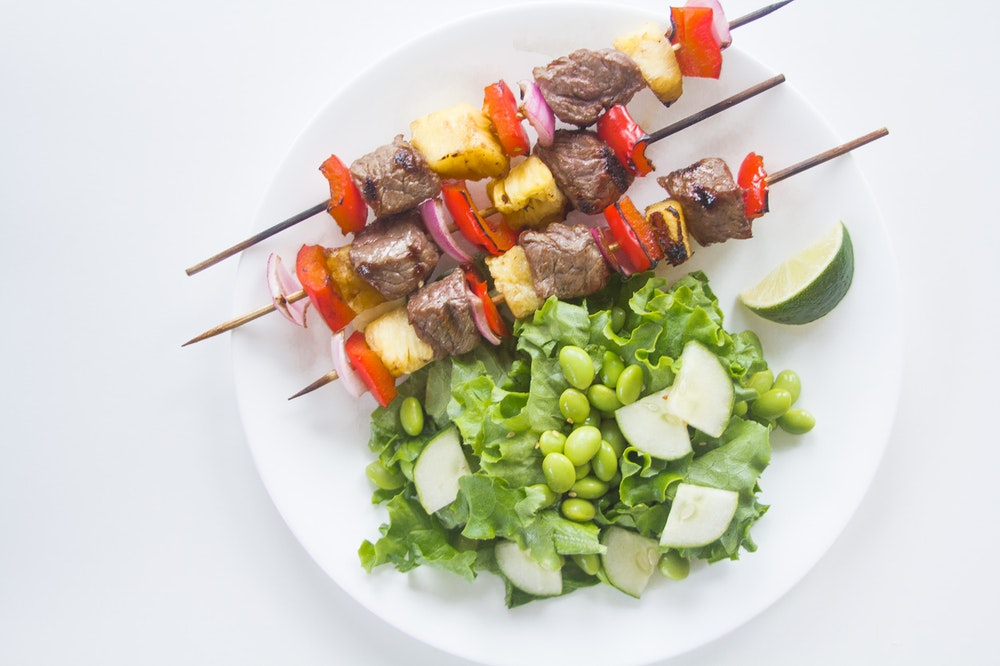 Sweet and Sour Beef and Pineapple Kebabs