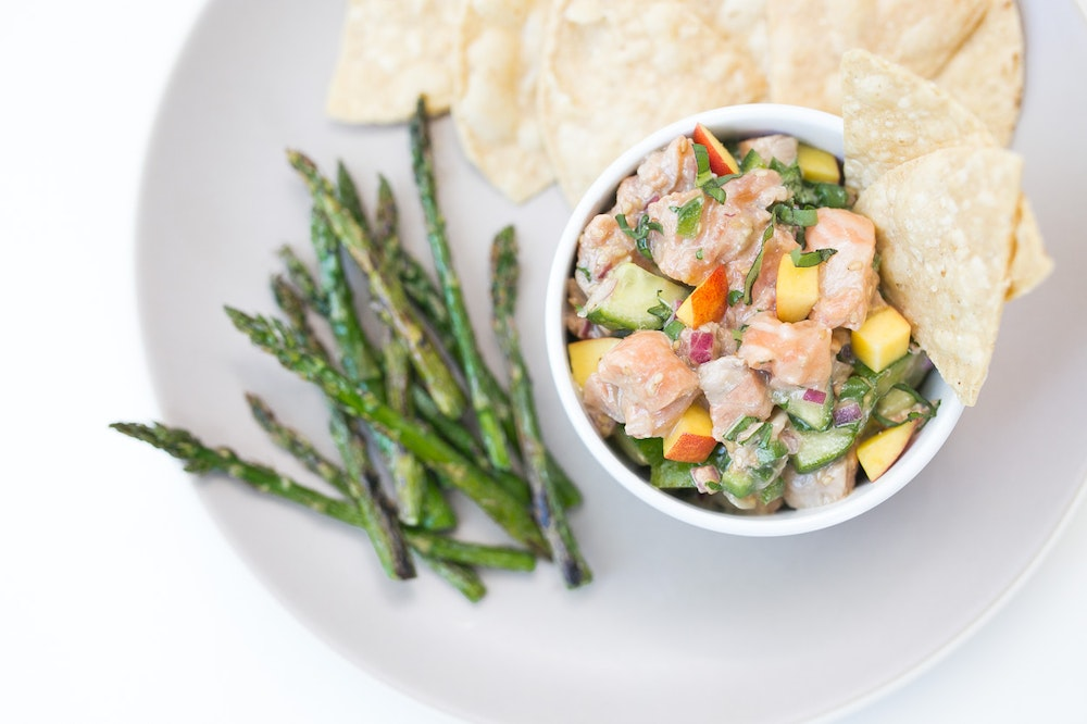 Asian-Style Ceviche with Salmon and Nectarines
