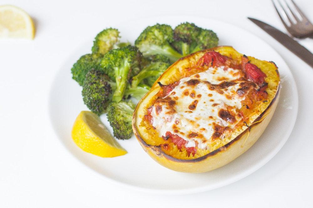 Spaghetti Squash Lasagna with Smoky Marinara