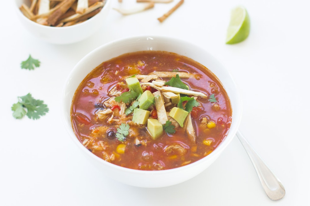 Southwestern Chicken and Pepper Soup