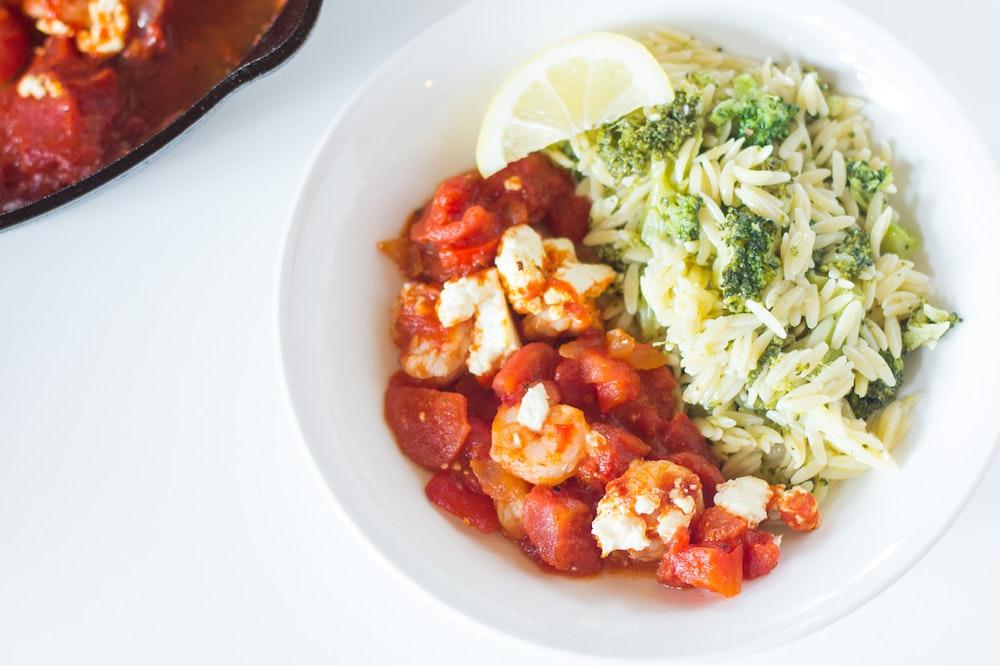 Mediterranean Shrimp with Feta