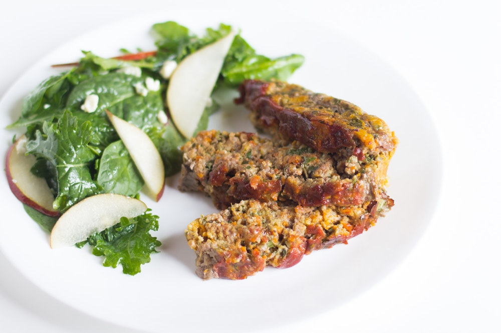 Classic Meatloaf with Chard and Carrots