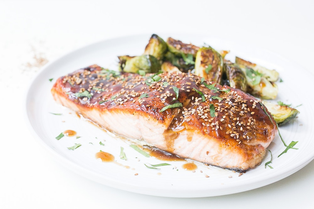Roasted Teriyaki Salmon & Brussels Sprouts