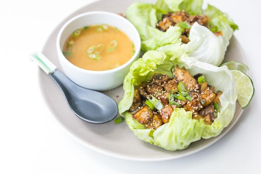 Tofu Teriyaki Lettuce Cups
