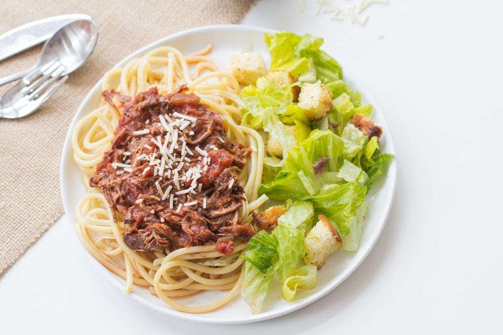Spaghetti with Beef Ragu
