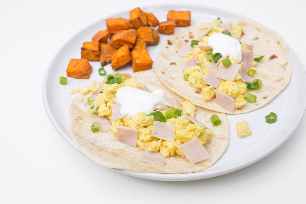 Ham & Egg Breakfast Tacos