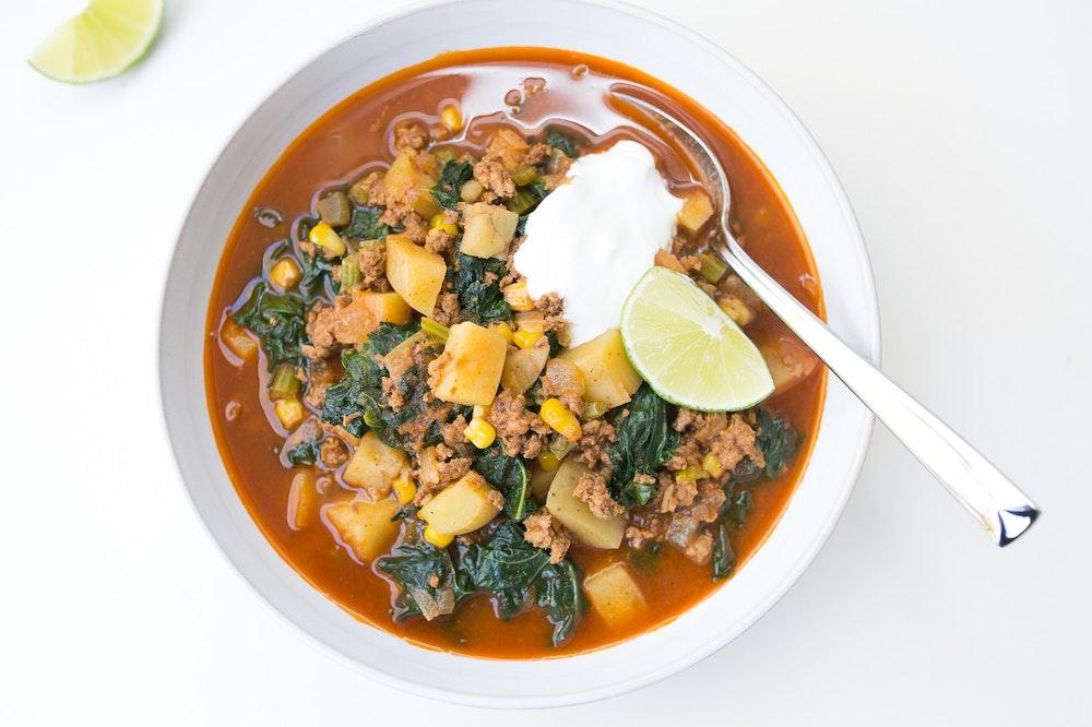 Turkey Chorizo Soup