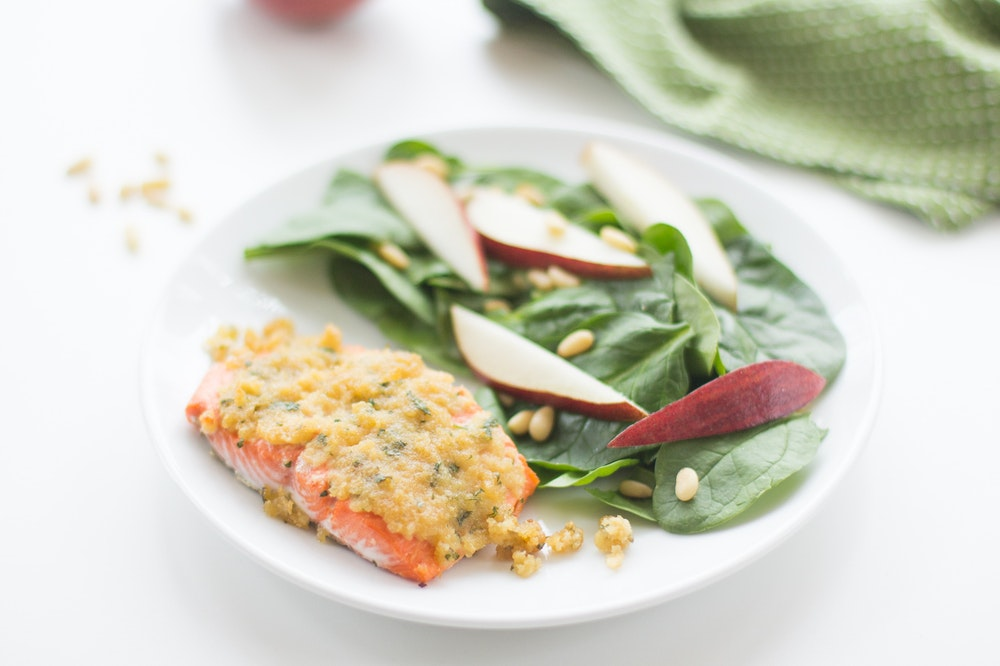 Maple-Dijon Panko Salmon