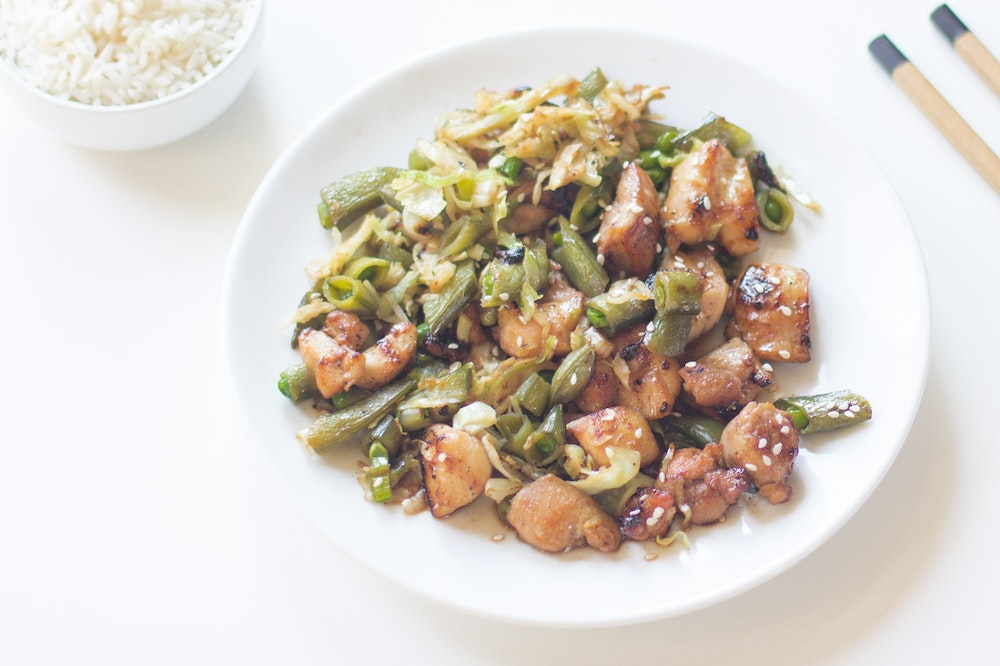 Chicken Yakitori Stir-Fry