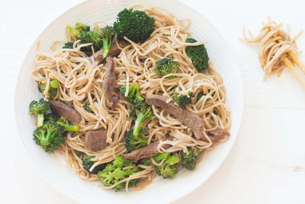 Portobello and Broccoli Soba