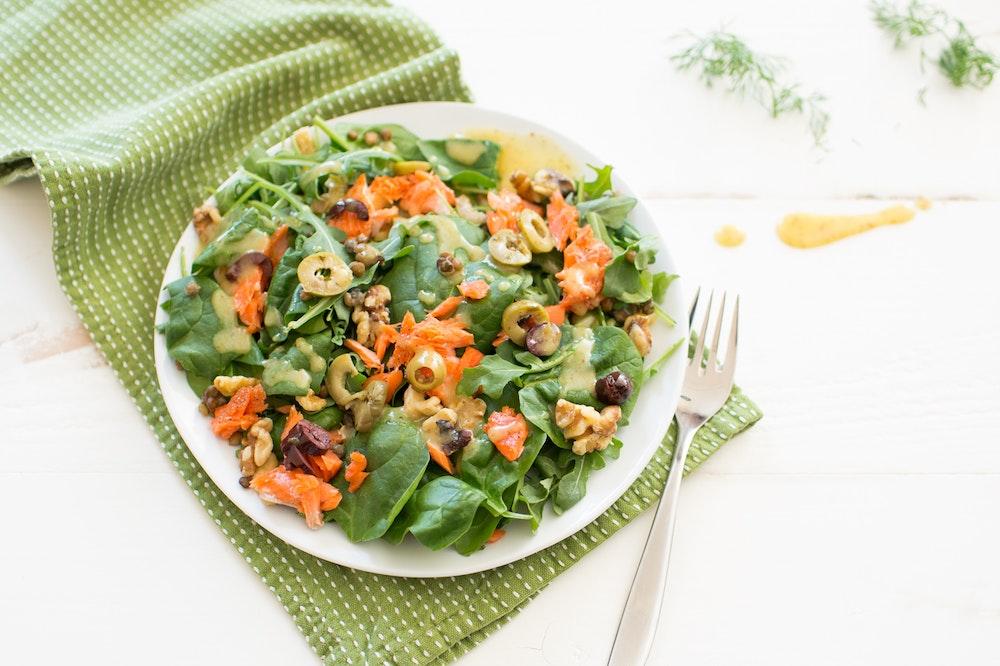 Warm Salmon and Lentil Salad
