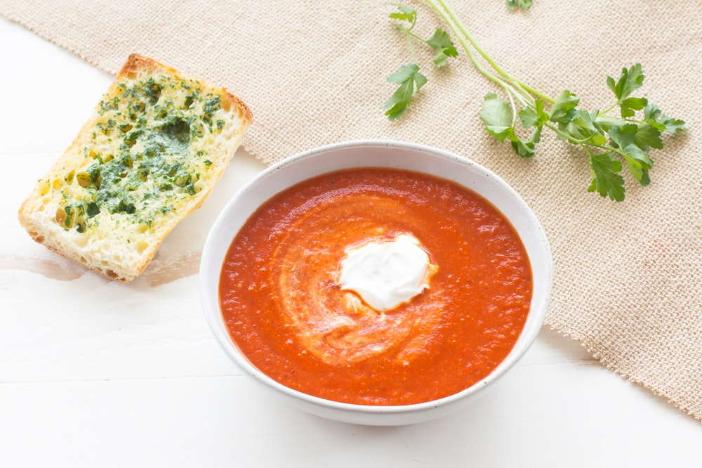 Smoky Tomato and Bell Pepper Soup