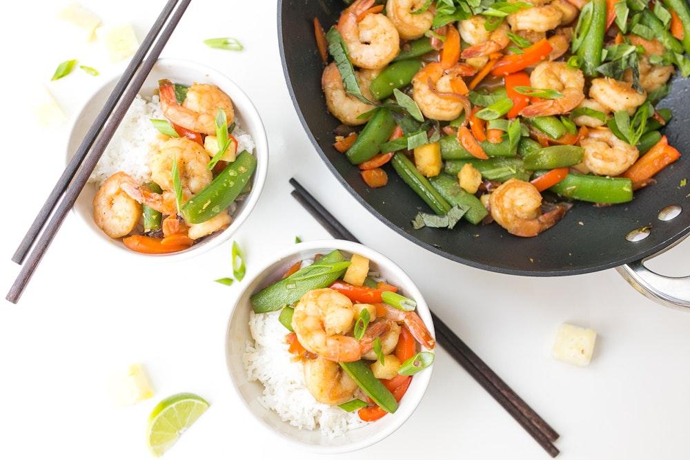 Teriyaki Shrimp Stir-fry