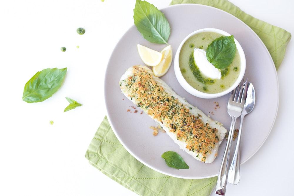 Garlic Panko Crusted Fish