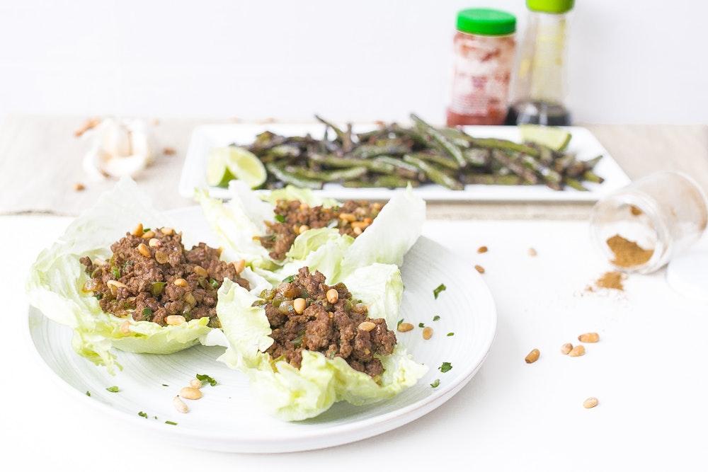 Cumin Lamb Lettuce Cups