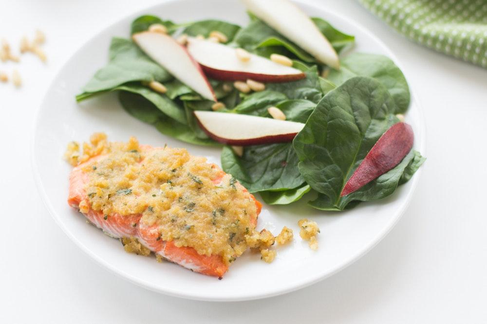 Maple-Dijon Panko Salmon
