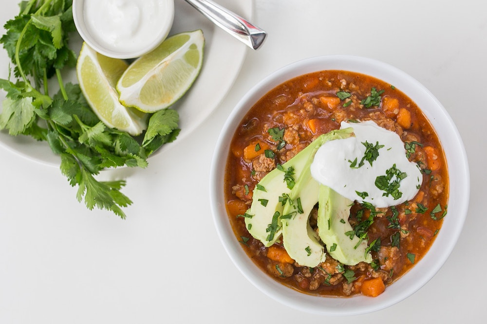 Slow Cooker Turkey and Sweet Potato Chili