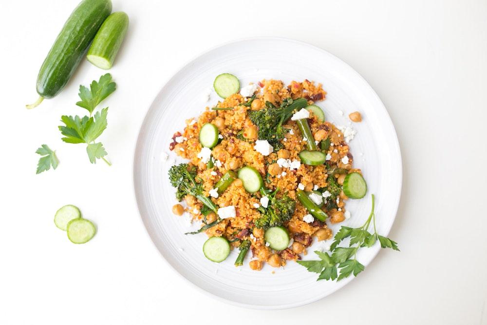 Harissa Fried [Leftover] Couscous