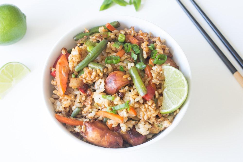 Honey-Sriracha Chicken Fried Rice