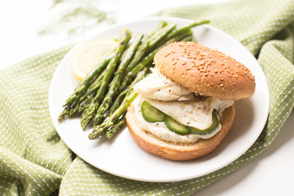 Tilapia Sandwiches with Cucumbers