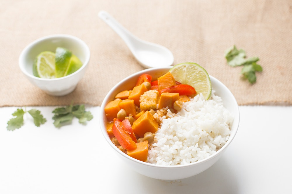Tofu and Sweet Potato Panang Curry