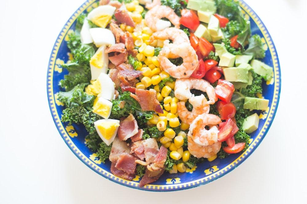 Marinated Mushroom Cobb Salad
