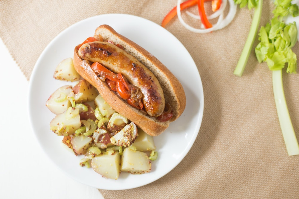 Beer Simmered Brats