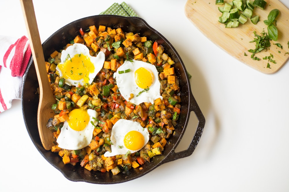 Farmer's Market Skillet with Fried Eggs