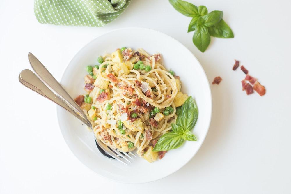 Summer Spaghetti Carbonara