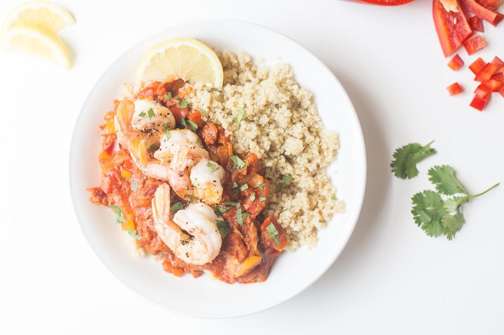 Shrimp, Chorizo and Bell Pepper Saute