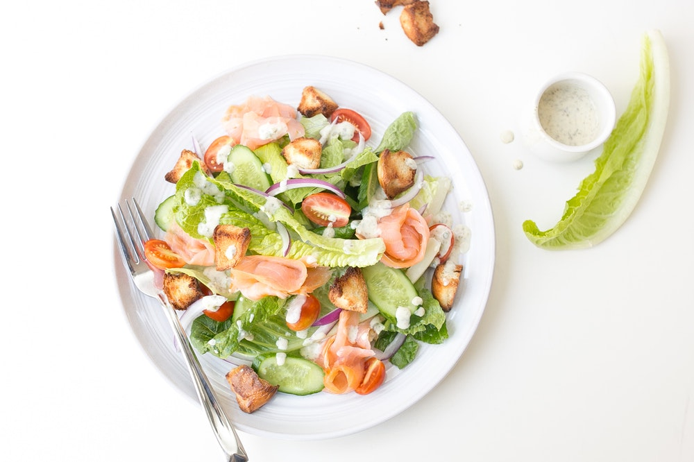 Deconstructed Bagel and Lox Salad