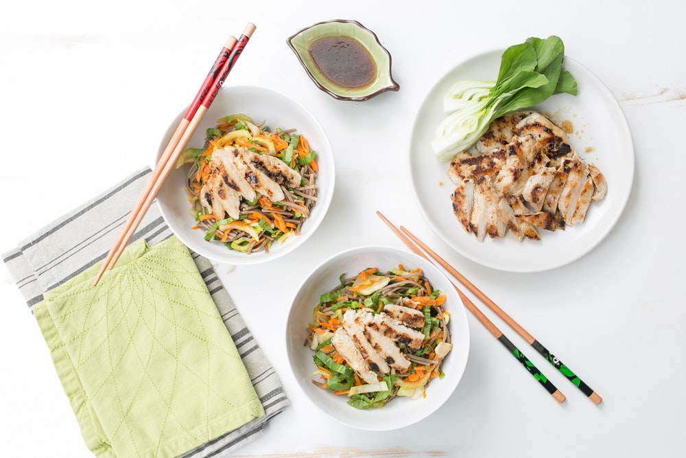 Grilled Chicken with Soba Noodle Salad