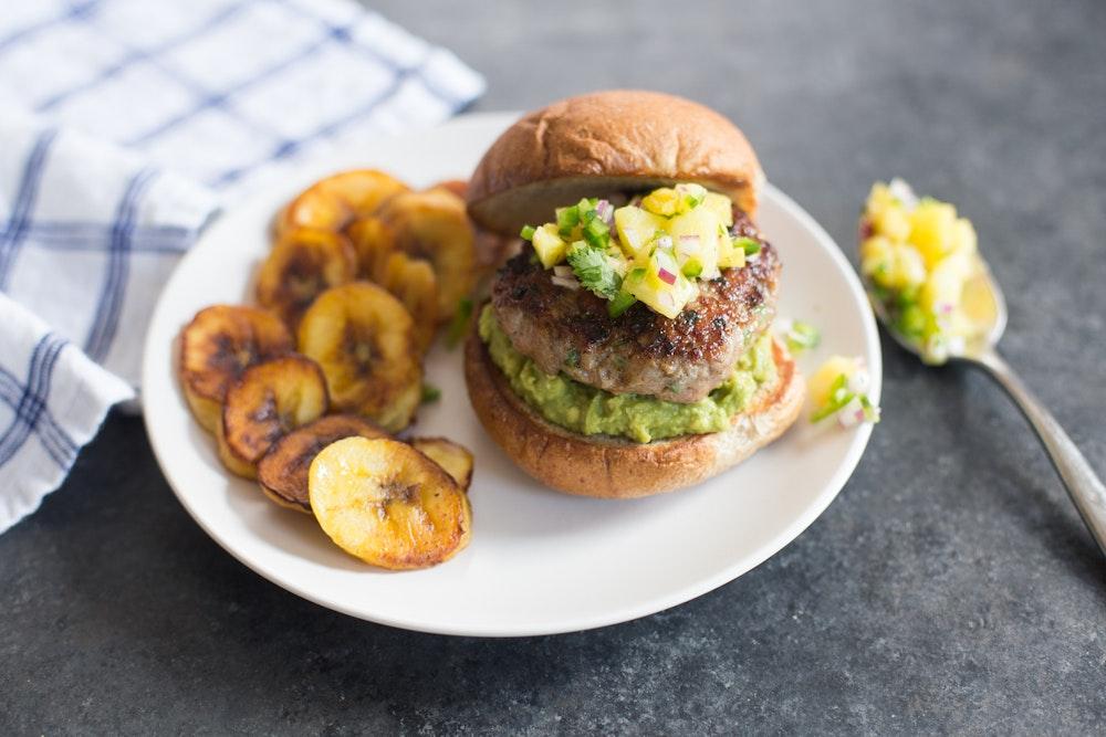 Jamaica | Jerk Pork Burgers with Pineapple Salsa