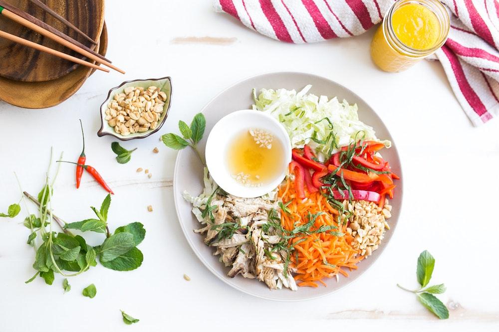 Vietnamese Rotisserie Chicken Salad