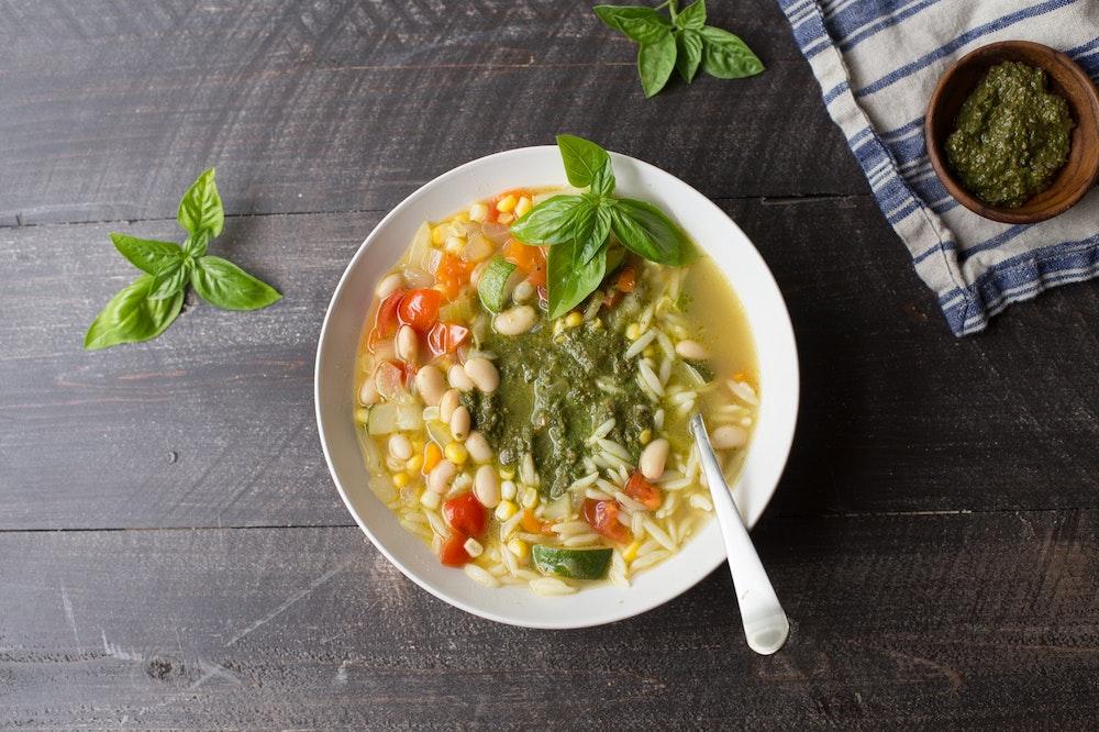 Summer Orzo Soup