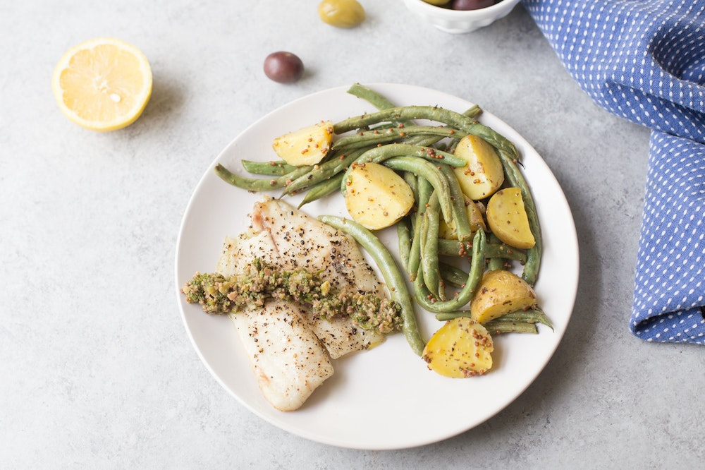 Tilapia with Olive Gremolata