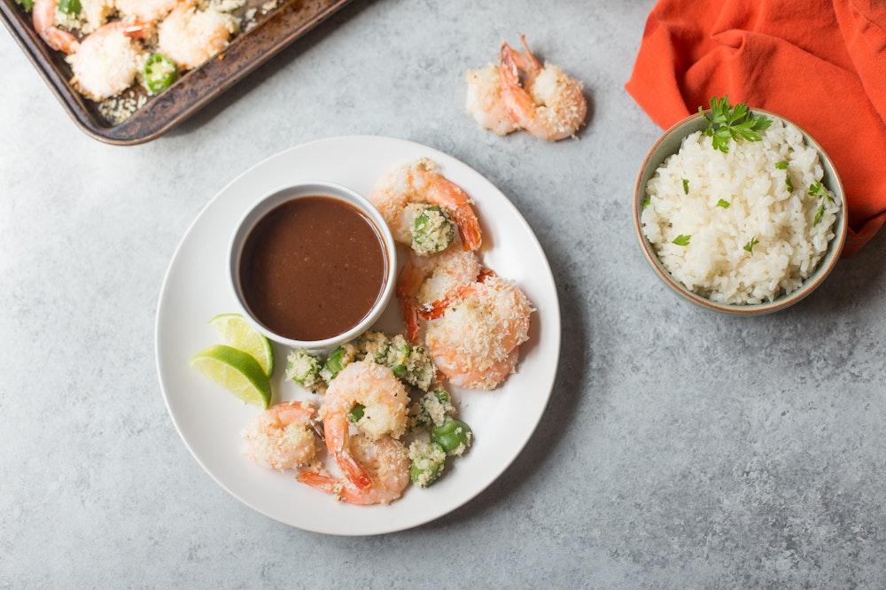 Crispy Baked Shrimp and Okra