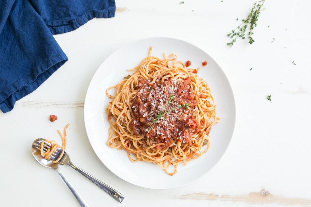 Spaghetti with Lentil Marinara