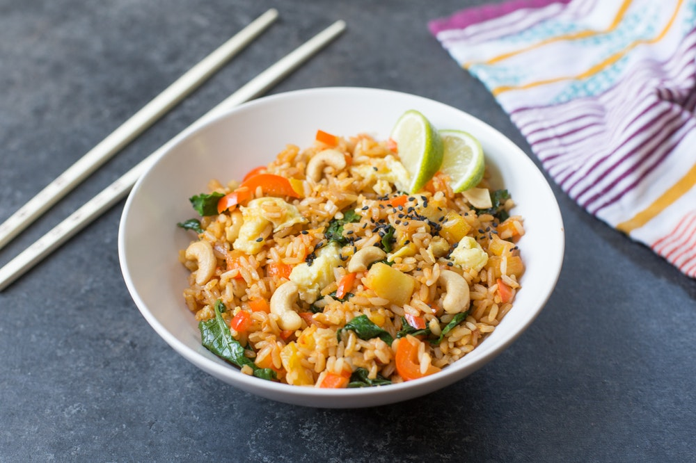 Pineapple Fried Coconut Rice