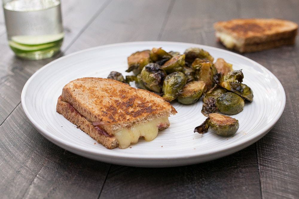 Grilled Cheese with Balsamic Red Onions