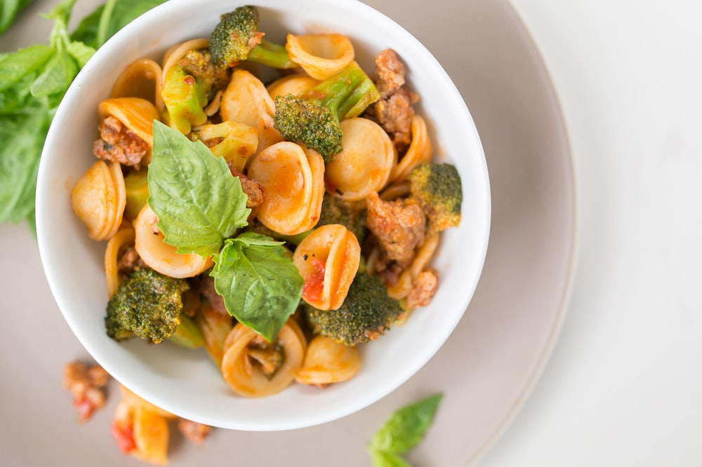 Broccoli and Sausage Orecchiette