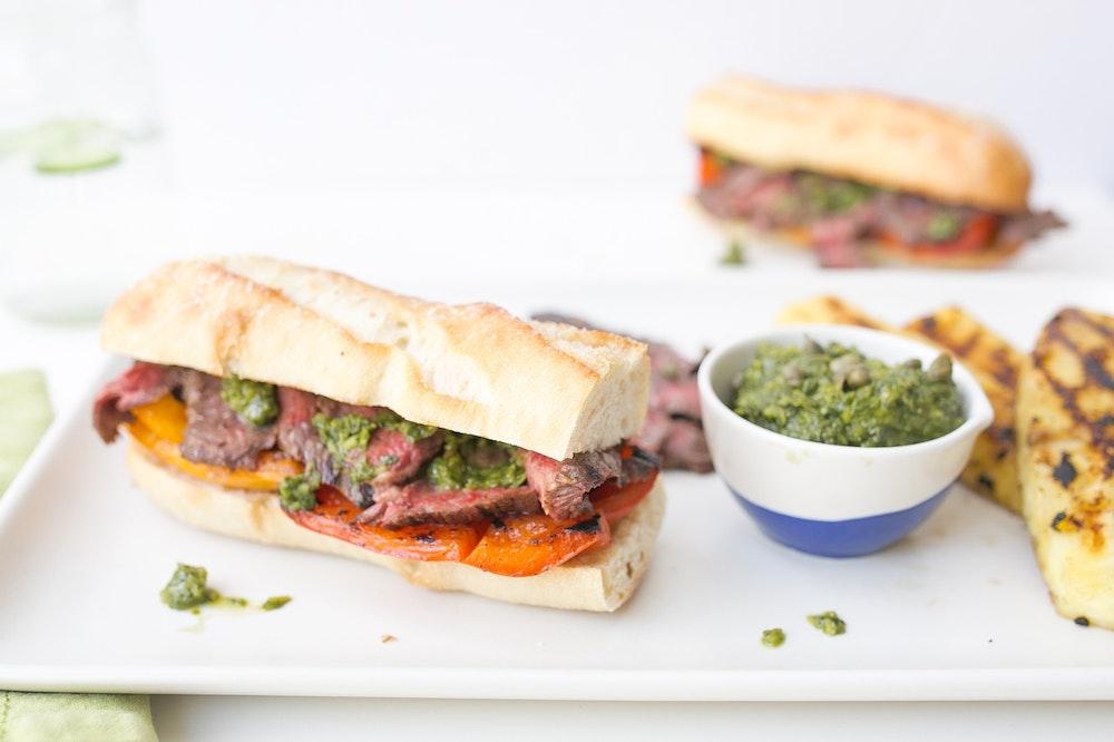 Skirt Steak Sandwiches