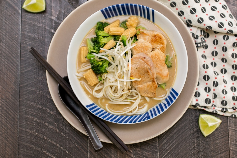 Green Curry Noodle Soup